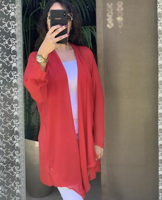 Cae mousseline - احمر